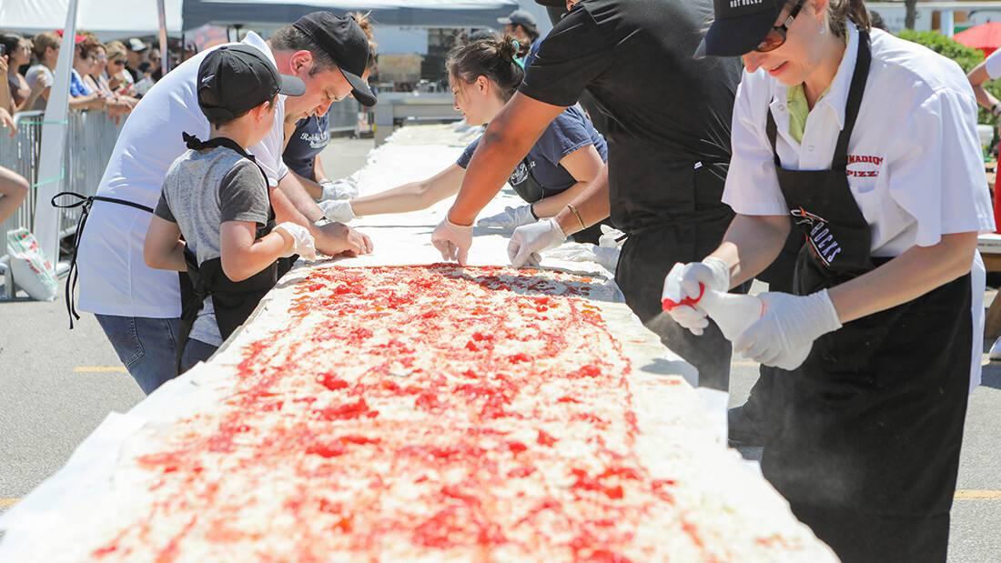 60-Feet calzone, World Guinness Record for the longest calzone